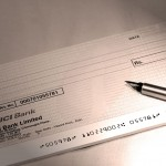 Chèque à remplir