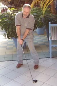 retraité au golf