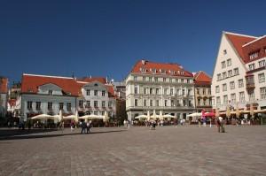 la capitale de l'Estonie, pays en pleine forme et plein développement