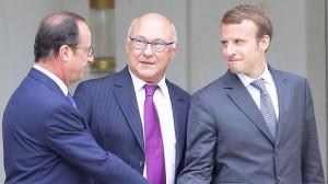 Hollande, Sapin et Macron