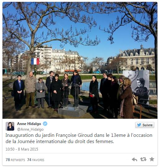 inauguration square F Giroud